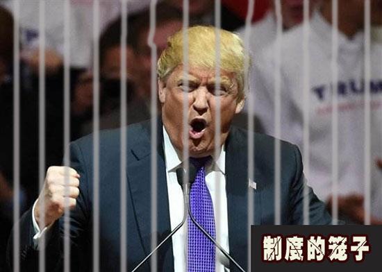 特朗普和他的权杖被关在制度的笼子里